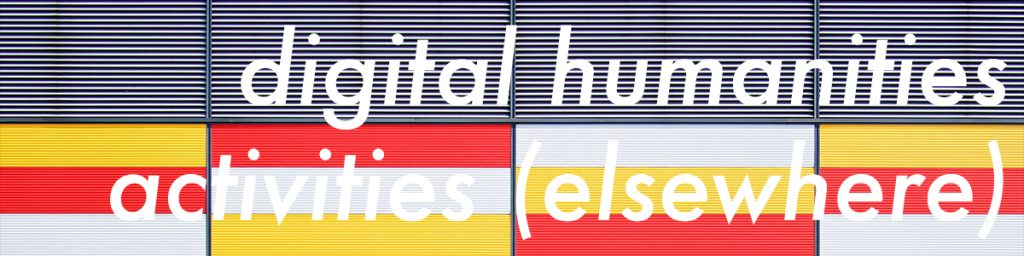 other resources for digital humanities activities