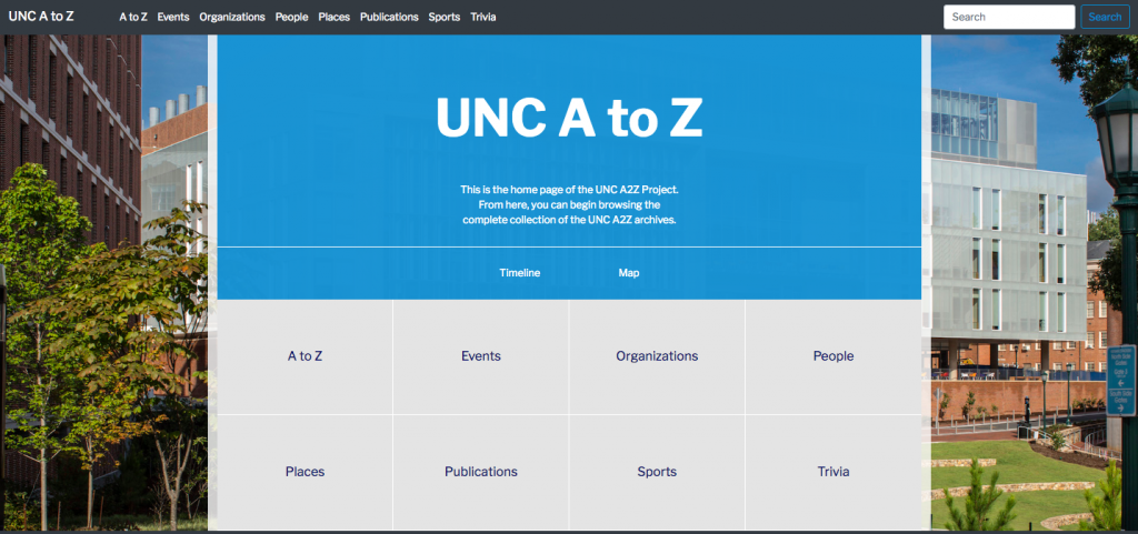 UNC A2Z Prototype Screen Shot